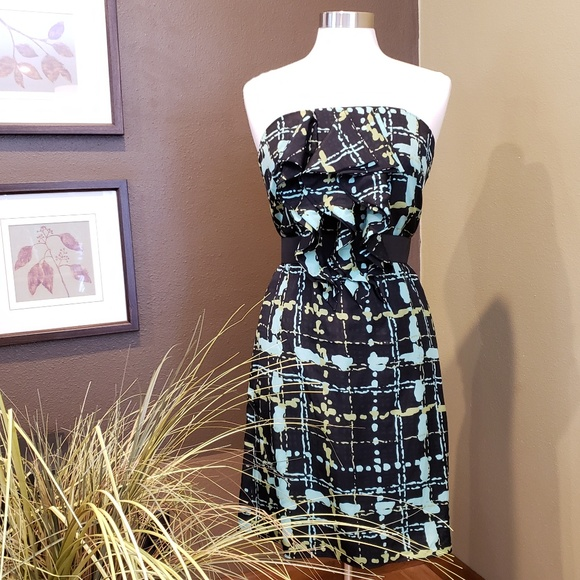 The Limited Dresses & Skirts - THE LIMITED Strapless Black & Teal Dress Sz 6